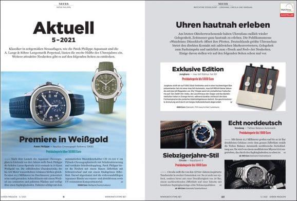 UHREN-MAGAZIN-Ausgabe 5/2021: Neuheiten und Trends