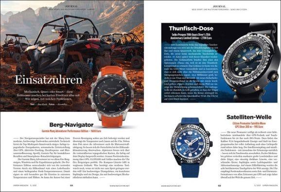 UHREN-MAGAZIN-Ausgabe 5/2021: Sport- und Outdoor-Uhren