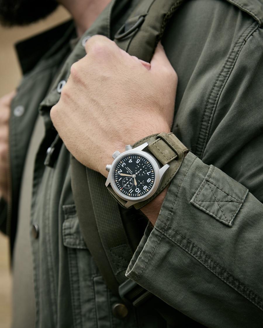 Hamilton: Khaki Field Automatic Chronograph am Handgelenk