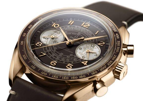 Omega: Speedmaster Chronoscope in Bronzegold