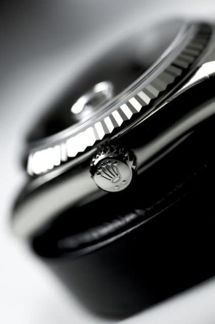 Detailaufnahme Rolex Oyster-Gehäuse