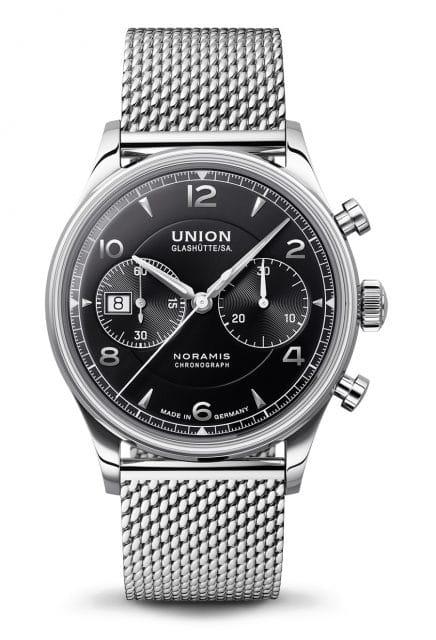 Union Glashütte: Noramis Chronograph mit schwarzem Zifferblatt