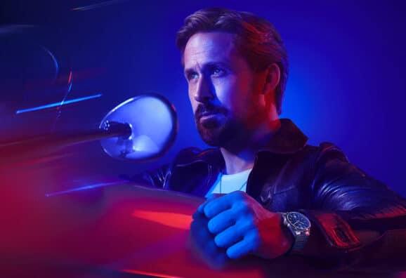 Schauspieler Ryan Gosling mit der neuen TAG Heuer Carrera Date 39 mm
