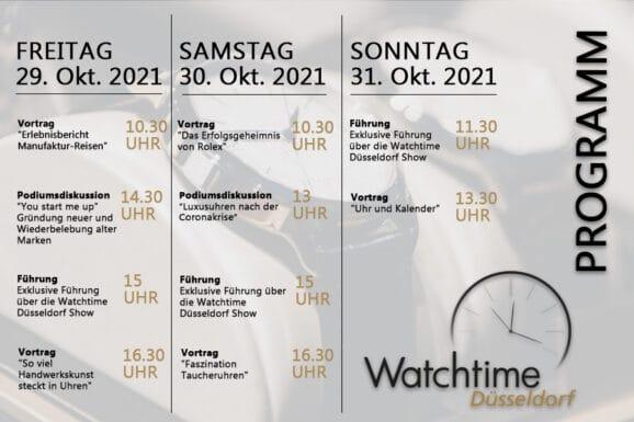 Watchtime Düsseldorf Rahmenprogramm